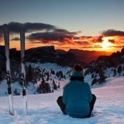 ski de rando nordique au coucher du soleil 1