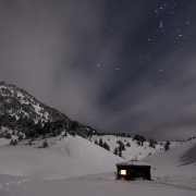 Le refuge de Chaumailloux sous les étoiles, Vercors