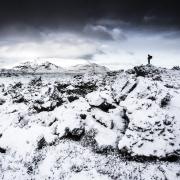 rando hiver coulée de lave, Islande