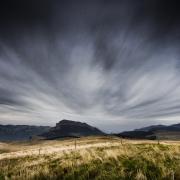 Ambiance de fin du monde sur le plateau d'Ambel, Vercors.